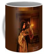 Lady Intudor Gown With Bird Coffee Mug by Jill Battaglia
