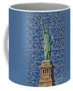 Lady Liberty Mosaic Coffee Mug