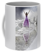 Lady On The Rocks Coffee Mug by Joana Kruse