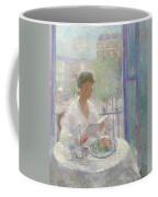 Lady Reading At An Open Window  Coffee Mug