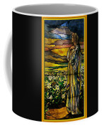 Lady Stained Glass Window Coffee Mug by Thomas Woolworth