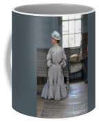 Lady Waiting In Train Depot Coffee Mug
