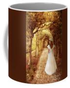 Lady Walking In Tree Tunnel In Garden Coffee Mug