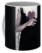 Lady With Blood And Heart Coffee Mug by Joana Kruse