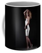 Lady With Curly Hair Coffee Mug