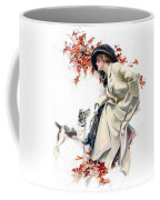 Lady With Dog Coffee Mug