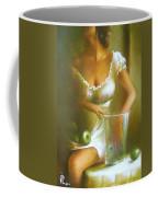Lady With Green Apples Coffee Mug