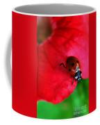 Ladybird On Petal Coffee Mug