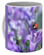 Ladybug And Bellflowers Coffee Mug
