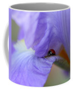 Ladybug On Iris Coffee Mug