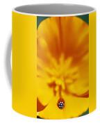 Ladybug On Poppy Flower Petal Coffee Mug