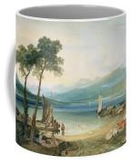 Lake Geneva And Mont Blanc Coffee Mug by Joseph Mallord William Turner