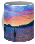 Lake Quinault Sunset - Impressionism Coffee Mug