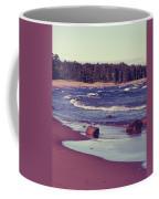 Lake Superior Beach Waves  Coffee Mug