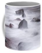 Lake Superior Rocks Waves 1 B Coffee Mug
