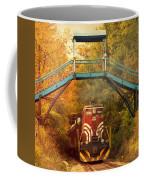 Lake Winnipesaukee New Hampshire Railroad Train In Autumn Foliage Coffee Mug