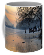 Lake With Ice In Sunset Coffee Mug