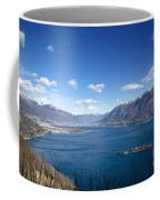 Lake With Islands And Snow-capped Mountain Coffee Mug