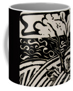 Land Sea Sky In Black And White Coffee Mug