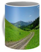 Lane View Of Crazy Mountains Coffee Mug