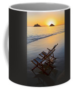 Lanikai Chairs At Sunrise Coffee Mug