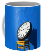 Large Clock On Yellow Chair Coffee Mug