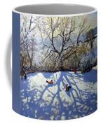 Large Tree And Tobogganers Coffee Mug