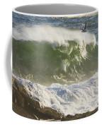 Large Waves And Seagulls Near Pemaquid Point On Maine Coffee Mug