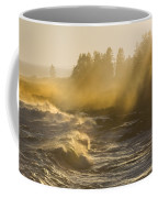 Large Waves Lightbeams Pemaquid Point Maine Coffee Mug