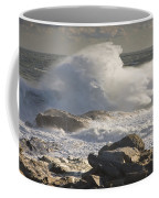 Large Waves Near Pemaquid Point On The Coast Of Maine Coffee Mug