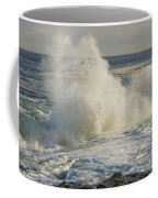 Large Waves On Rocky The Coast Maine Coffee Mug