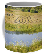 Late Summer Hay Being Harvested In Maine Canvas Poster Print Coffee Mug
