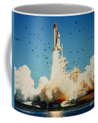 Launch Of Space Shuttle Challenger 51-l Coffee Mug