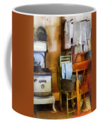 Laundry Drying In Kitchen Coffee Mug by Susan Savad