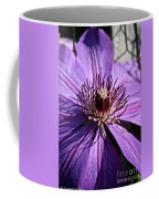 Lavender Clematis Coffee Mug