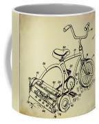 Lawnmower Tricycle Patent Coffee Mug