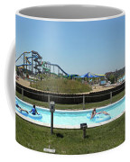 Lazy River Panorama At A Water Park Coffee Mug