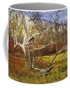 Leaf Barren White Tree Trunk In California No.1500 Coffee Mug