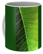 Leaf Texture Coffee Mug by Carlos Caetano