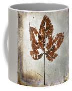 Leaf  With Textured Effect Coffee Mug
