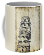 Leaning Tower Of Pisa On Old Paper Coffee Mug by Setsiri Silapasuwanchai