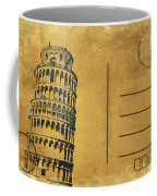 Leaning Tower Of Pisa Postcard Coffee Mug