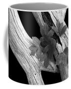 Leaves And Driftwood Bw Coffee Mug