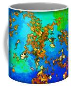 Leaves In A Pond Coffee Mug
