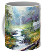 Leaving The Woodland Creek  Coffee Mug