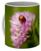 Lensbaby Ladybug On Pink Clover Coffee Mug