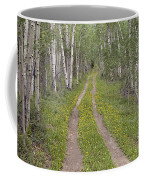 Less Traveled Road Through Aspens Coffee Mug