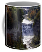 Letchworth State Park Middle Falls With Watercolor Effect Coffee Mug