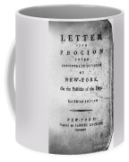 Letter From Phocion, 1784 Coffee Mug