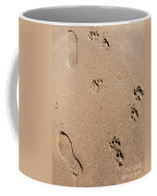 Footprints Mans Best Friend Coffee Mug